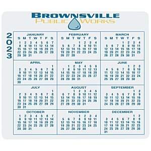 "Removable Laptop Calendar - 3-1/4"" x 3-3/4"" - Full Color Main Image"