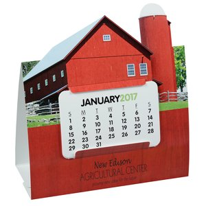 Die-Cut Desk Calendar - Barn Main Image