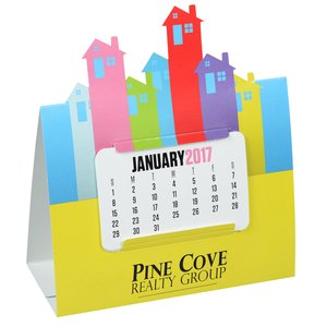 Die-Cut Desk Calendar - House Main Image