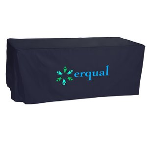 Open-Back Fitted Nylon Table Cover - 6' - Heat Transfer Main Image