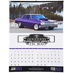 Muscle Cars Calendar with 2-Month View Main Image