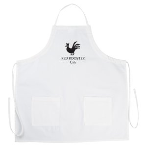 BBQ Apron with Pockets - White Main Image