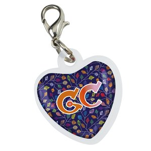 Retractable Badge Holder Charm - Heart Main Image