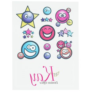 Temporary Tattoo Mini Sheet- Smiley Faces Main Image