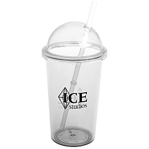 Domed Tumbler with Straw - 20 oz. Main Image