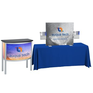Vector 5' Tabletop Display & Curved Counter Kit Main Image