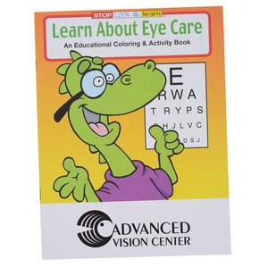 Learn About Eye Care Coloring Book Main Image