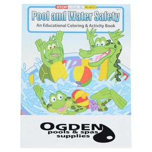 Pool & Water Safety Coloring Book Main Image