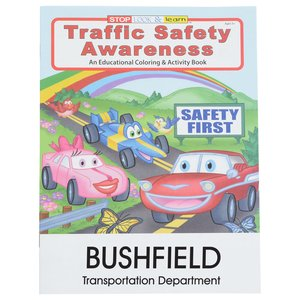 Traffic Safety Awareness Coloring Book Main Image