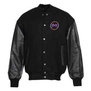 Burk's Bay Wool & Leather Varsity Jacket Main Image