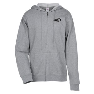 French Terry Fashion Full-Zip Hoodie Main Image
