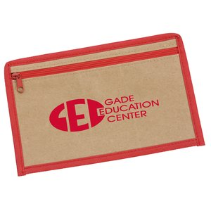 Kraft Zipper Pencil Case - Overstock Main Image