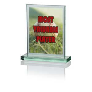 "Panel Jade Glass Award - 7"" - Full Color Main Image"