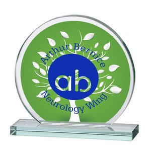 "Orbit Jade Glass Award - 6"" - Full Color Main Image"