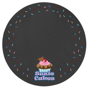 "Chalkboard Memo Board Sticker - 11"" Circle Main Image"
