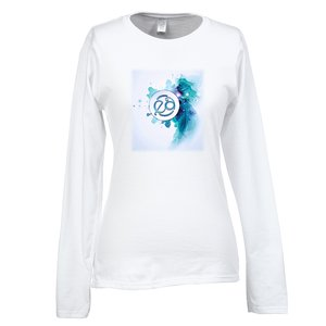 Gildan SoftStyle LS T-Shirt - Ladies' - FC - White Main Image
