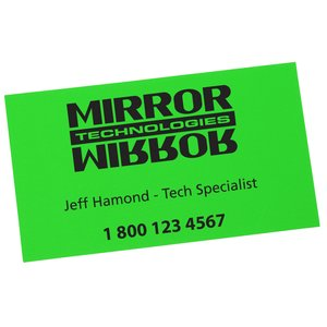 Fluorescent Business Card Magnet - Closeout Main Image
