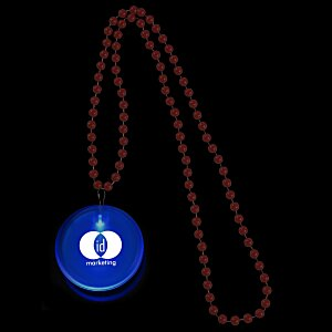 Light-Up Button with Beads Main Image