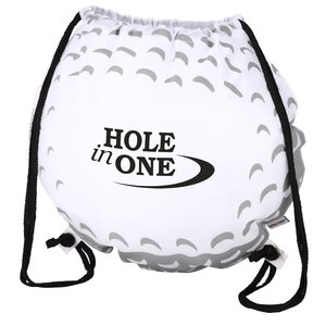Game Time! Golf Ball Drawstring Backpack-Overstock Main Image