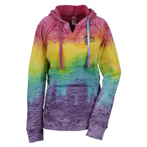 Weatherproof Courtney Burnout Sweatshirt-Rainbow-Screen Main Image