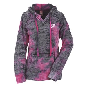 MV Sport Courtney Burnout Sweatshirt - Raspberry - Screen Main Image