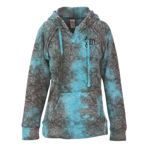 Weatherproof Courtney Burnout Sweatshirt-Teal Wave-Screen Main Image