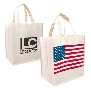 Patriotic Nonwoven Shopping Tote - Closeout