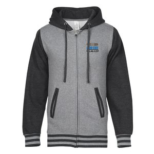 cd8392396 Independent Trading Co. Varsity Full-Zip Hoodie - Embroidered Main Image