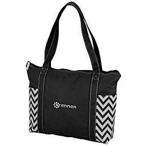Chevron Zippered Business Tote Main Image