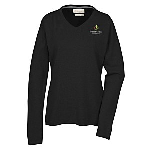 Weatherproof Vintage Cotton Cashmere V Neck Sweater Ladies'