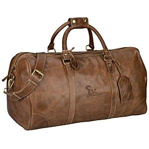 4imprint.com  Westbridge Large Leather Duffel 132338 c5c42b525bb6b
