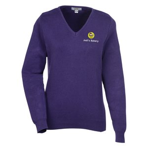 Ultra Soft Cotton V-Neck Sweater - Ladies' Main Image