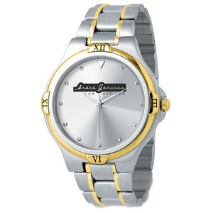 Two Tone Stainless Steel Watch - Men's