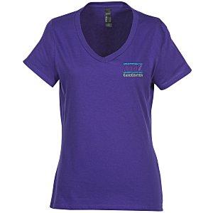 e65749e3d0b4 4imprint.com: Hanes Nano-T V-Neck T-Shirt - Ladies' - Colors ...
