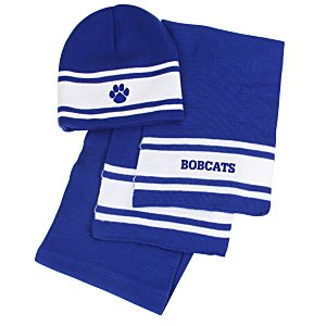 Varsity Beanie and Scarf Set Main Image