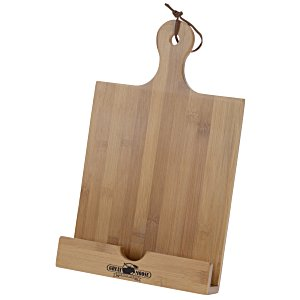 Bamboo Cookbook and Tablet Stand Main Image