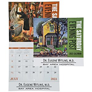 Saturday Evening Post Calendar - Stapled Main Image