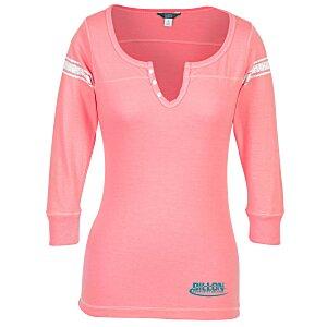 42158361 4imprint.com: MV Sport Hailey Henley 3/4 Sleeve T-Shirt 148701-L