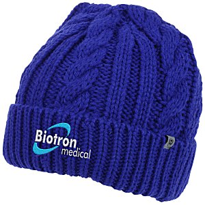 a683072e68f 4imprint.com  Top of The World Empire Cable Knit Beanie 152576
