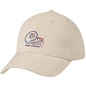 Brushed-Cotton 6-Panel Cap - Embroidered Main Image