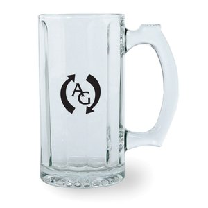 Fluted Glass Tankard - 12 oz.