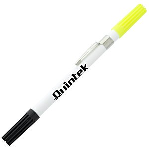 2 in 1 Plastic Point Pen/Highlighter Main Image