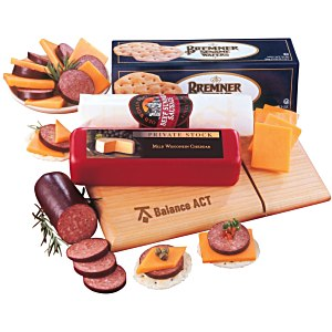Cutting Board with Slicer Snack Package