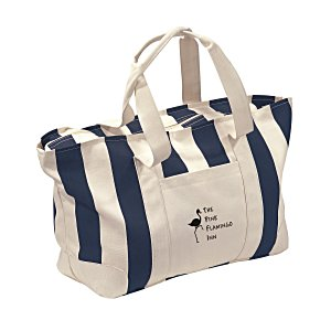 Striped Canvas Tote - Large Main Image