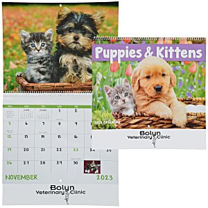 Puppies & Kittens Calendar - Spiral Main Image