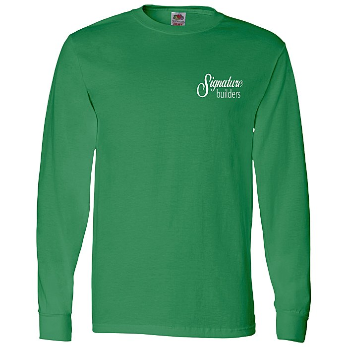 0001cf9aaecf Fruit of the Loom Long Sleeve 100% Cotton T-Shirt - Colors - Screen