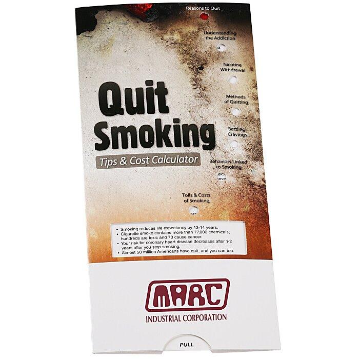 4imprint.com: Quit Smoking Tips & Cost Calculator Pocket