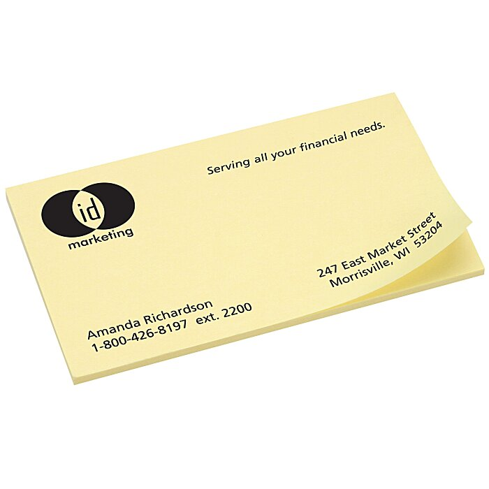 4imprint post it business card notes 2 x 3 12 50 business card notes 2 x 3 12 loading zoom reheart Images