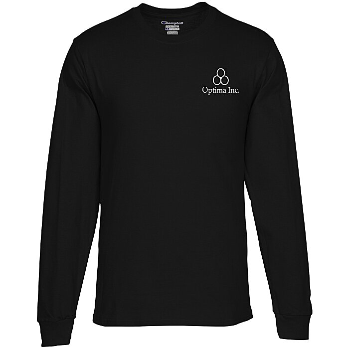 e160e510 4imprint.com: Champion Long-Sleeve Tagless T-Shirt - Colors 101548-C