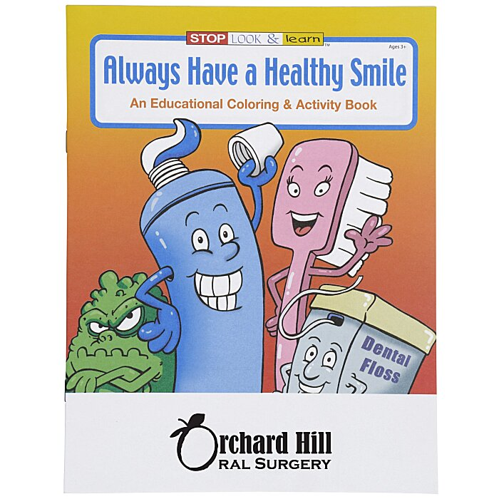 4imprint Com Always Have A Healthy Smile Coloring Book